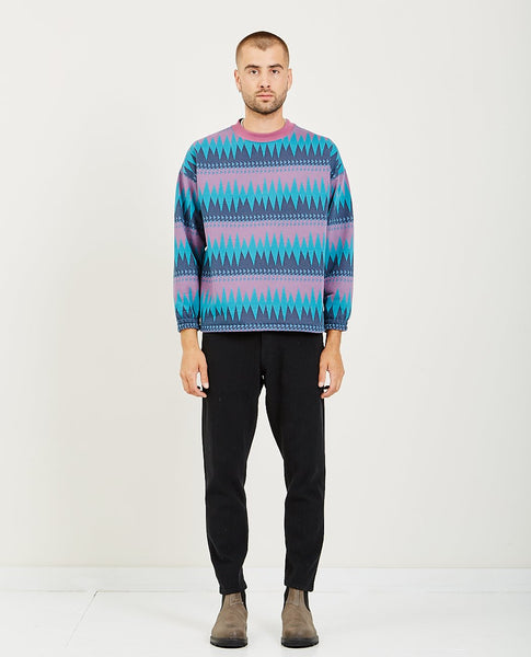 REMI RELIEF INLAY STITCH CREW SWEATER