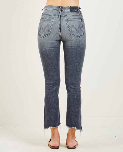 MOTHER INSIDER CROP STEP CHEW JEAN PEDAL TO THE METAL