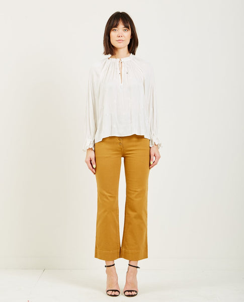 ULLA JOHNSON IRENE BLOUSE PEARL