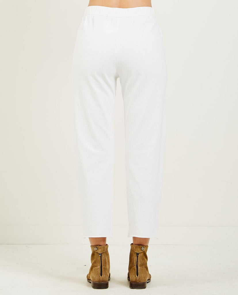 RAQUEL ALLEGRA-IVORY TAILORING JERSEY ANKLE PANT-Women Pants-{option1]