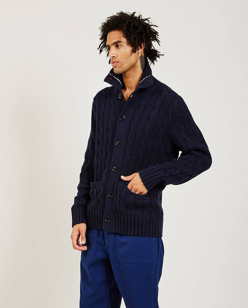 ALEX MILL-Jack Cable Cardigan-Men Sweaters + Sweatshirts-{option1]