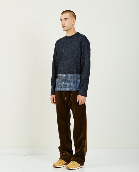 JUNYA WATANABE MAN JACQUARD MILL X WOOL FLANNEL CHECK