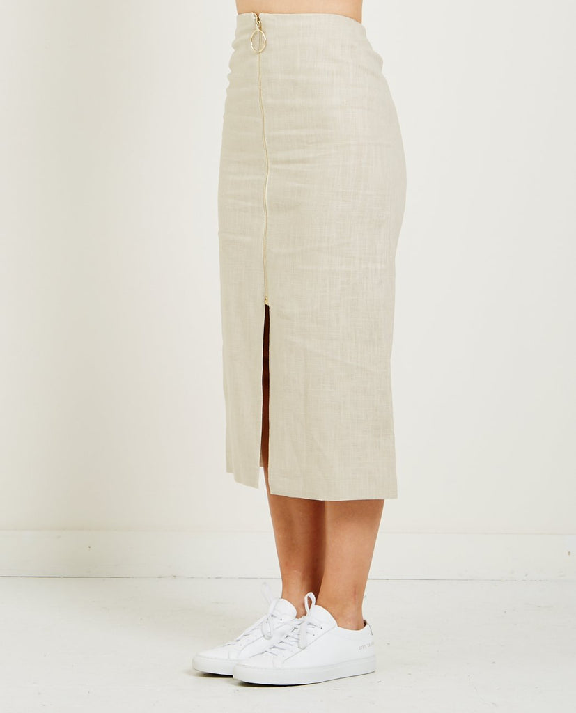 HARMONY-JANISSE LINEN SKIRT-Skirts-{option1]