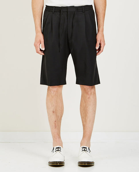 CMMN SWDN JAYSON ELASTICATED DOUBLE PLEAT SHORTS