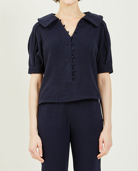 WNDERKAMMER JERSEY PUFF SLEEVE TOP