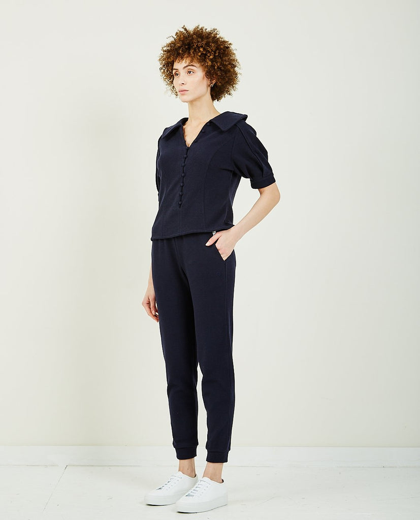WNDERKAMMER-JERSEY PUFF SLEEVE TOP-Blouses-{option1]