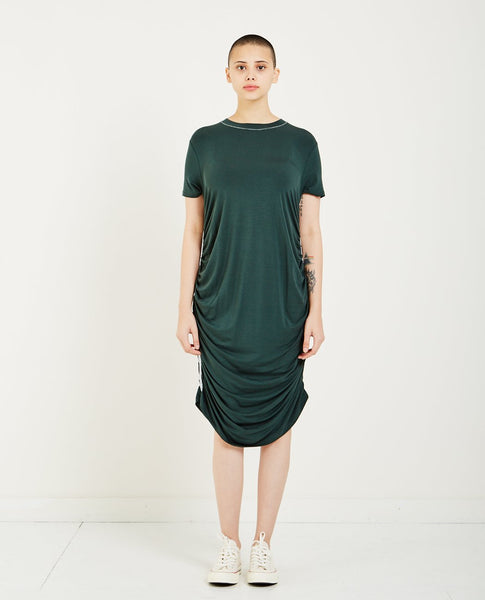 CARVEN JERSEY RUCHED DRESS