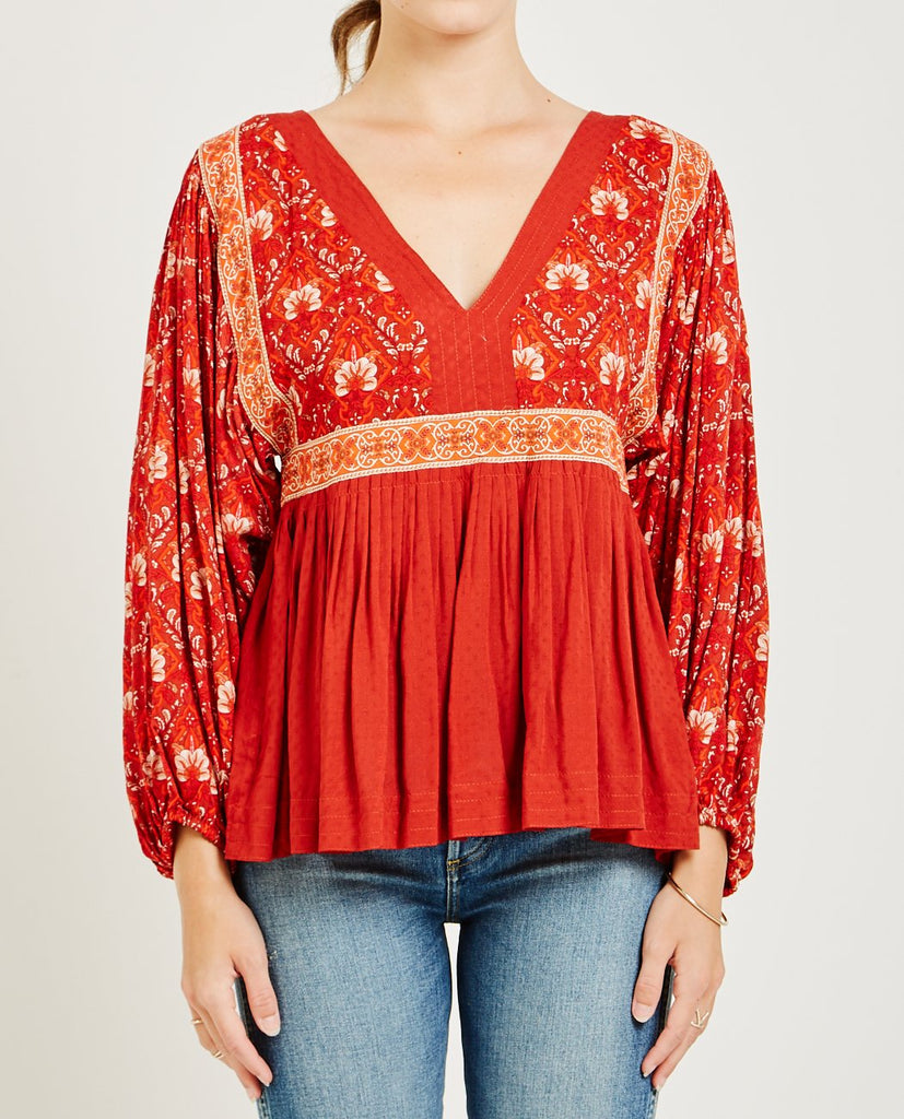 SPELL & THE GYPSY-JEWEL SMOCK BLOUSE-Blouses-{option1]