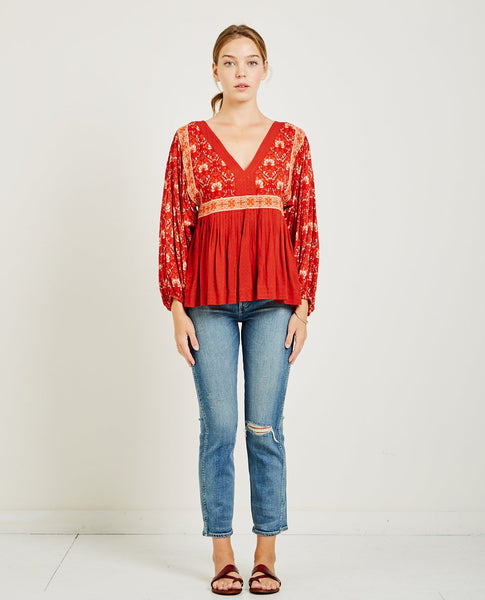 SPELL & THE GYPSY JEWEL SMOCK BLOUSE