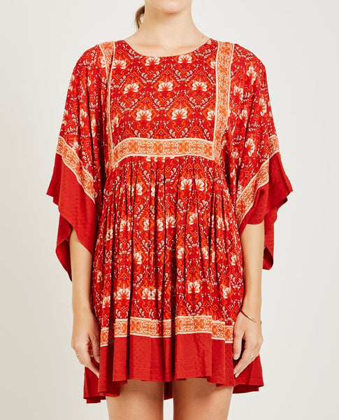 SPELL & THE GYPSY JEWEL TUNIC DRESS COPPER