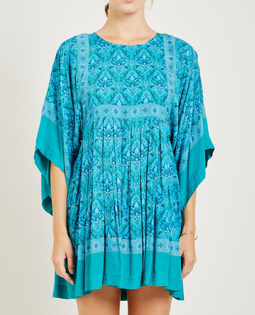 SPELL & THE GYPSY-JEWEL TUNIC DRESS EMERALD-DRESSES-{option1]