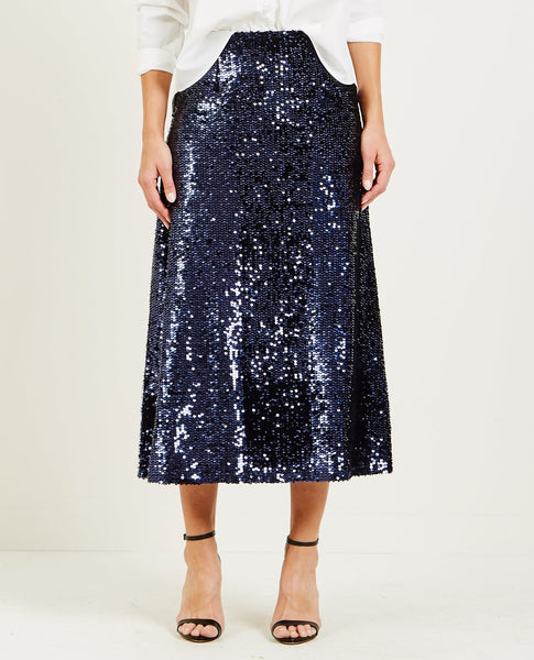 JUST FEMALE JONES SEQUIN SKIRT