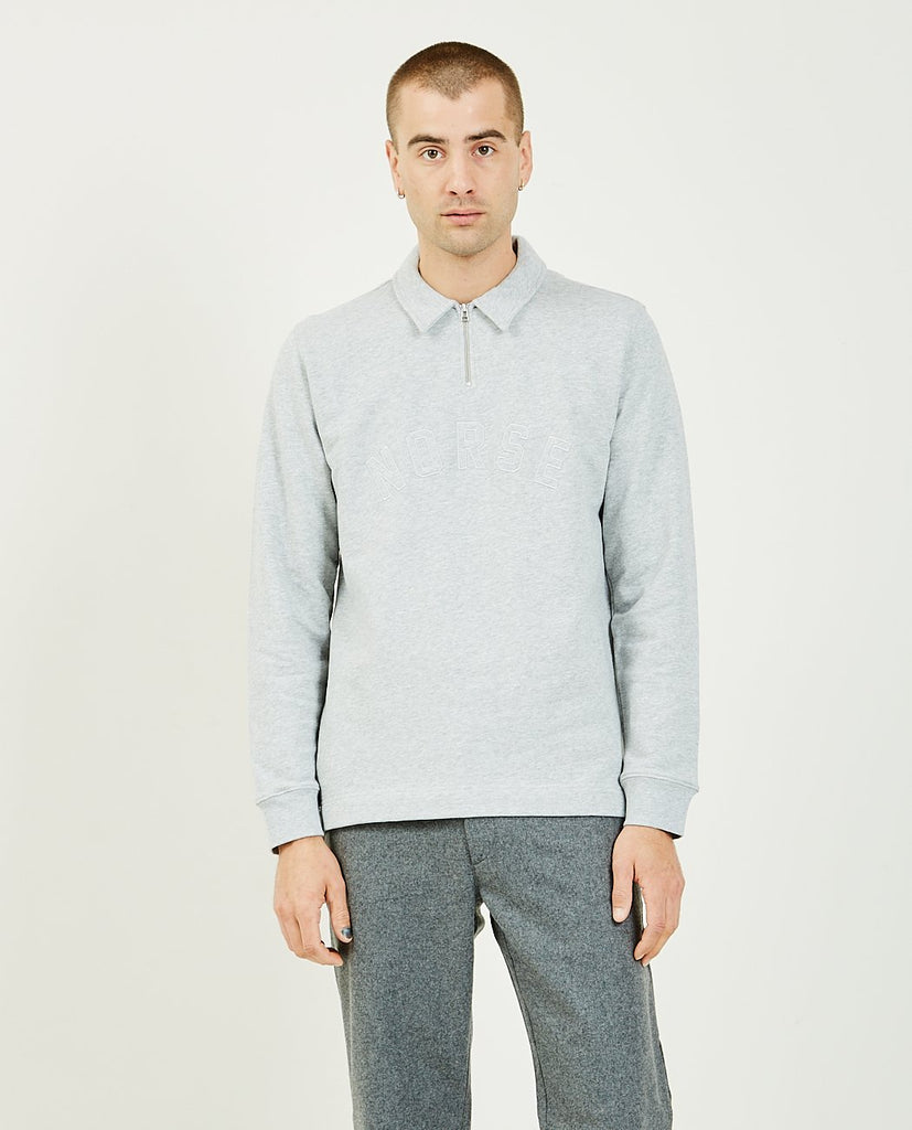 Jorn Half Zip Sweatshirt-NORSE PROJECTS-American Rag Cie