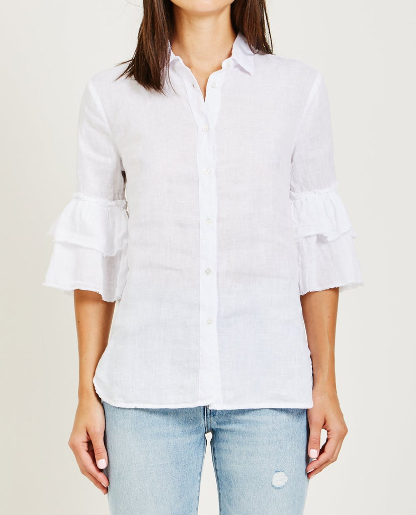 ALSO-JOSEPHINE RUFFLE SLEEVE SHIRT-Blouses-{option1]