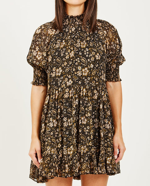 ULLA JOHNSON JOSIE DRESS FOREST