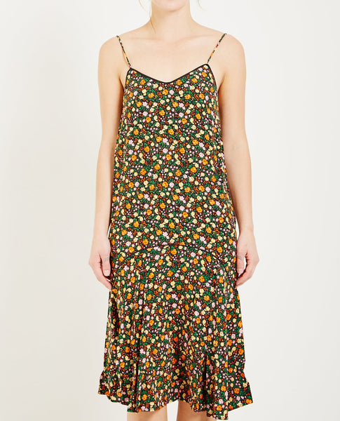 GANNI JOYCEDALE FLORAL PRINT DRESS