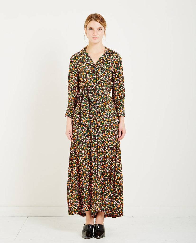 GANNI JOYCEDALE FLORAL SHIRT DRESS