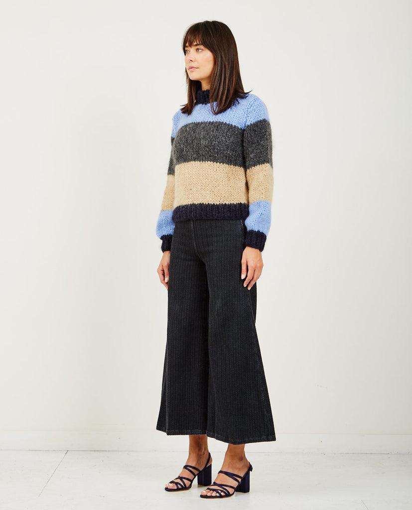 GANNI-JULLIARD MOHAIR SWEATER BLOCK-Women Sweaters + Sweatshirts-{option1]