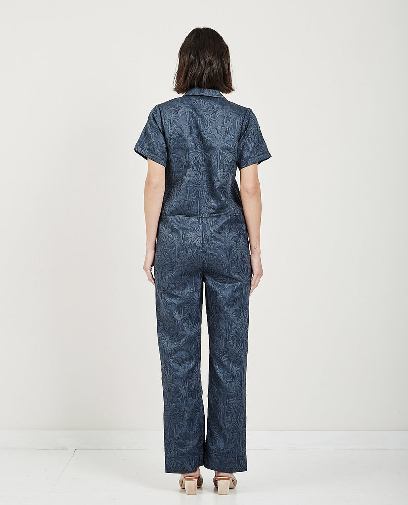 Jumpsuit Double Jacquard Tropical-NAKED & FAMOUS-American Rag Cie