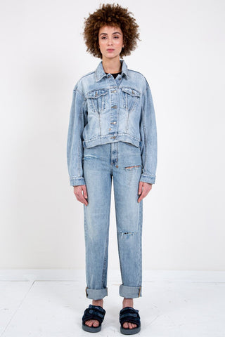 LEVI'S PREMIUM OVERSIZED REVERSIBLE TRUCKER CAT EYE