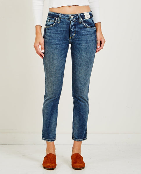 AMO DENIM KATE MID RISE ANKLE STRAIGHT JEAN CHERISH