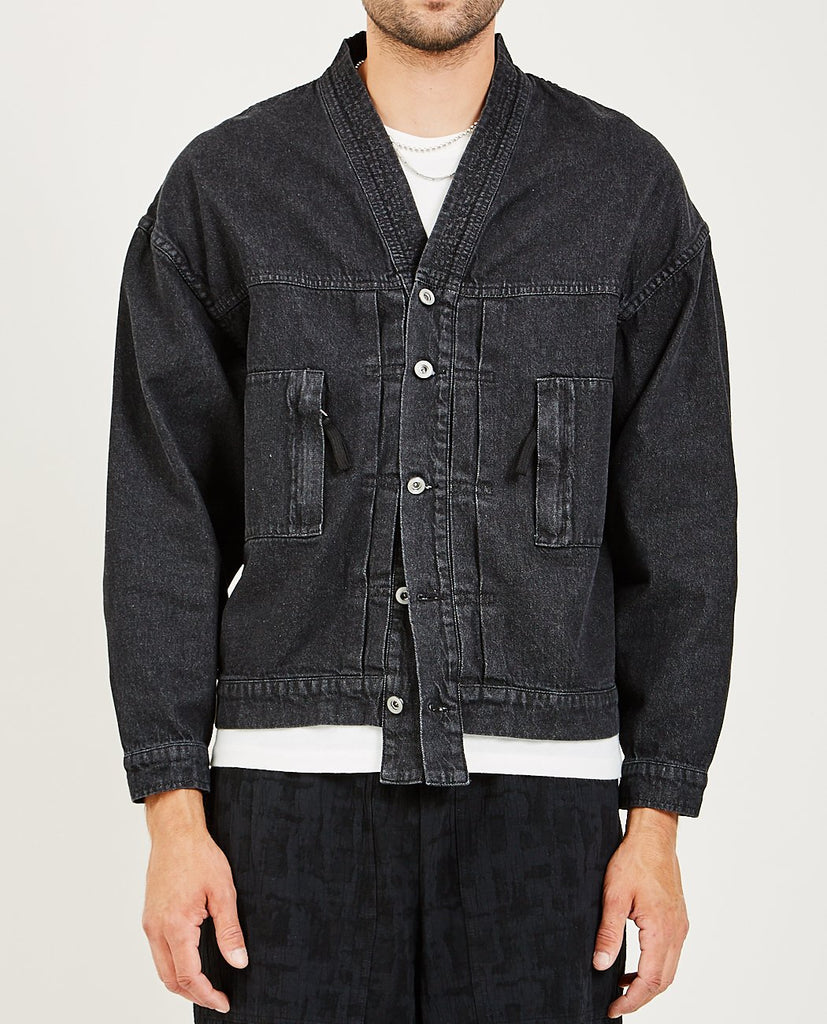 CANDOR-Kimono Denim Jacket-Men Coats + Jackets-{option1]