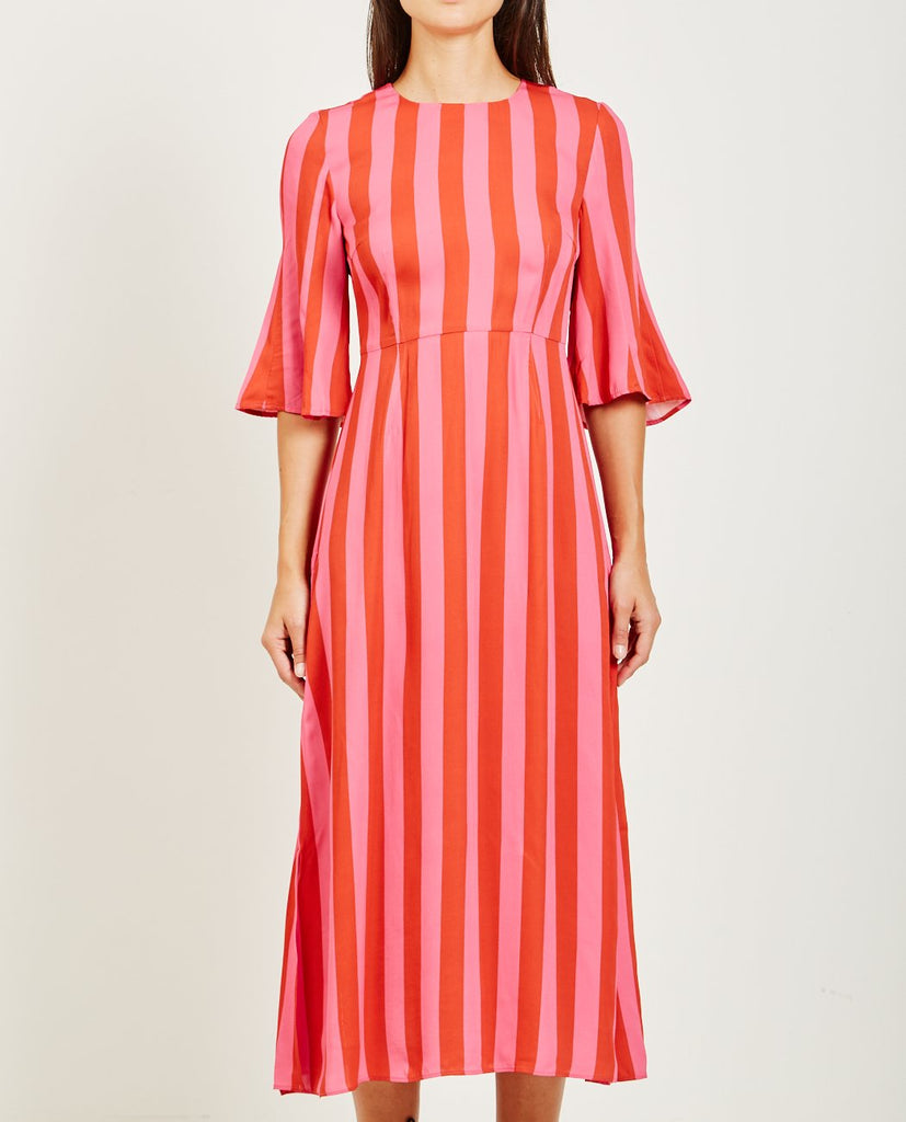 STINE GOYA-KIRSTEN STRIPED DRESS-Dresses-{option1]
