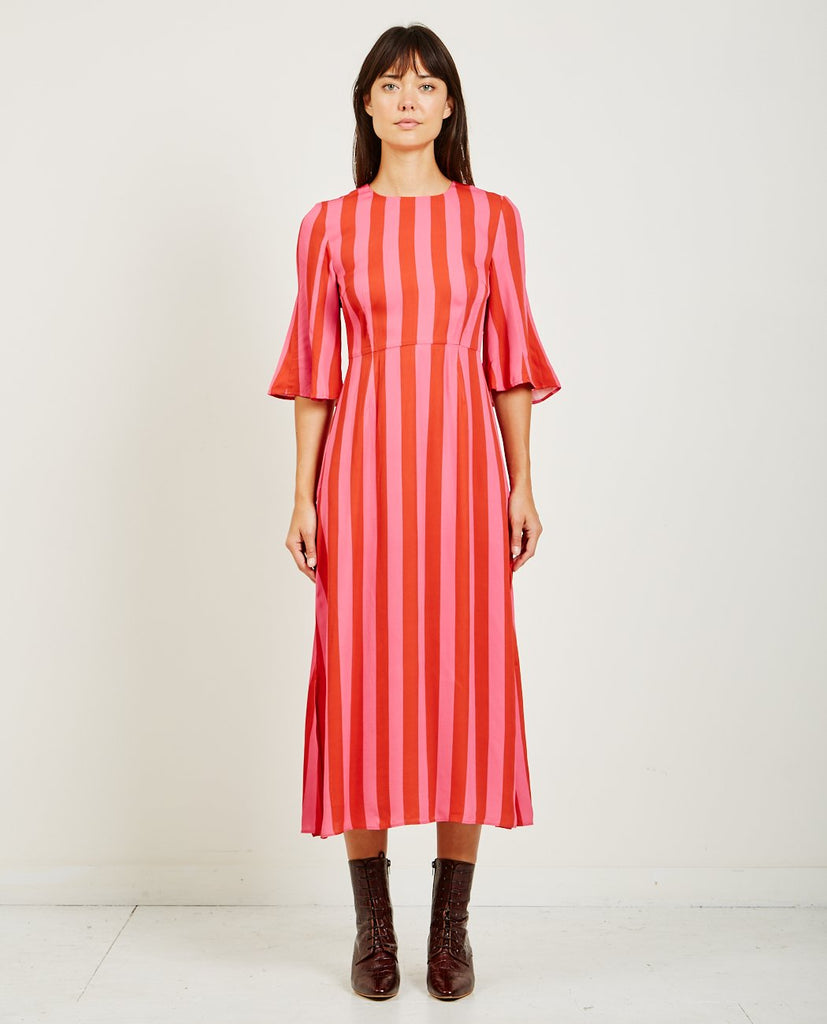 STINE GOYA KIRSTEN STRIPED DRESS