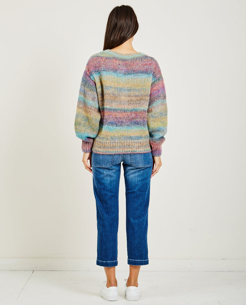 CLOSED-KNIT SWEATER MULTI COLOR-Women Sweaters + Sweatshirts-{option1]
