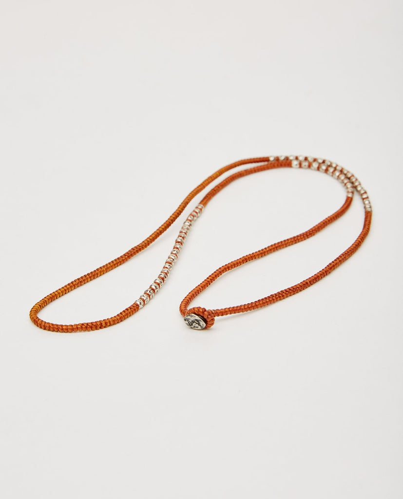 M. COHEN-KNOTTED 4 WRAP SILVER THAI HAM RUST-Men Jewelry-{option1]