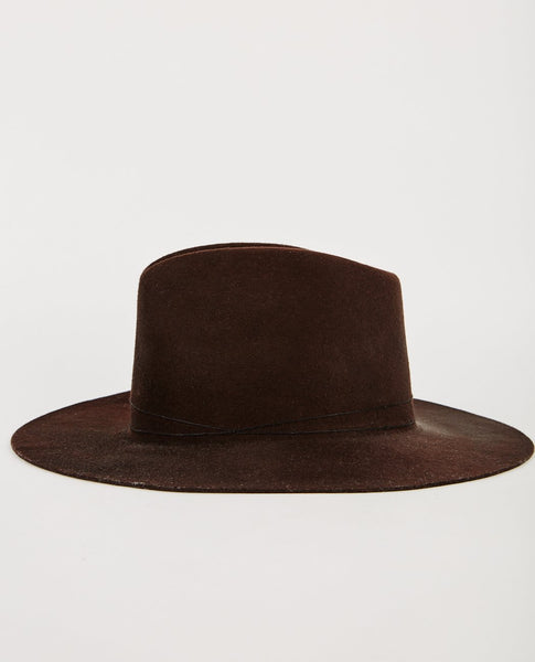 JANESSA LEONE KURT VIRGIN WOOL FEDORA