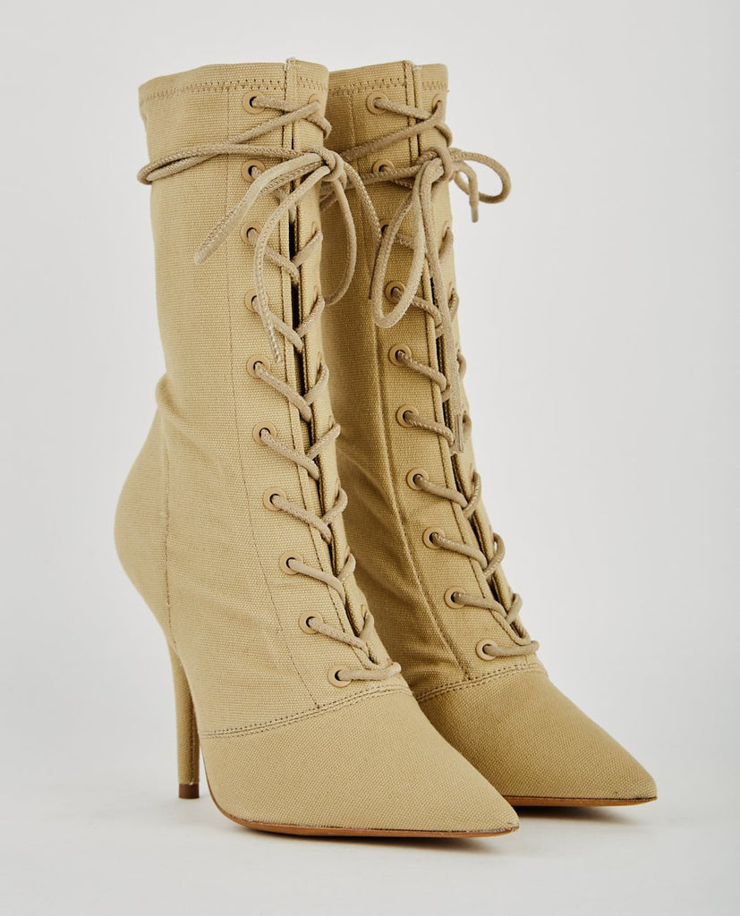 LACE STRETCH CANVAS ANKLE BOOT-YEEZY-American Rag Cie