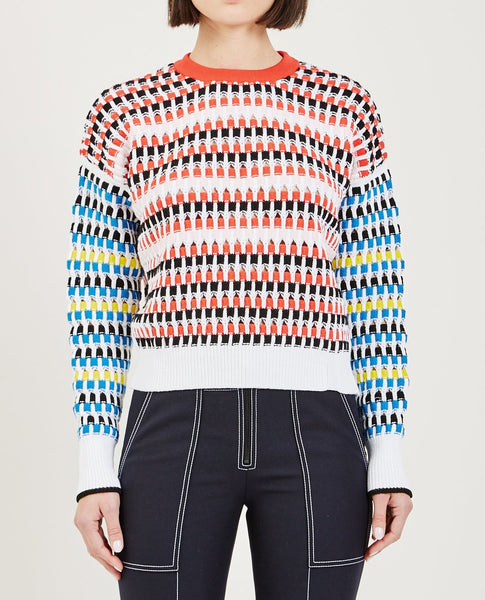 KENZO LACEHOLE CHECK JUMPER