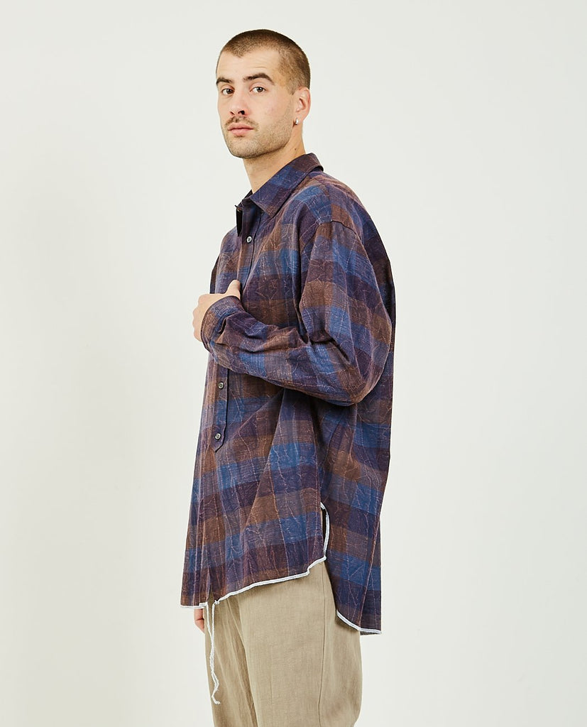 SK MANOR HILL-Langston Shirt Blue & Plaid-Men Shirts-{option1]