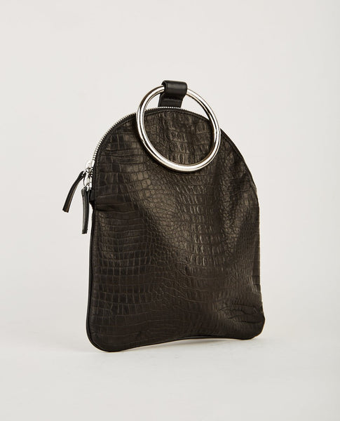 OTAAT MYERS COLLECTIVE LARGE RING POUCH BLACK CROC