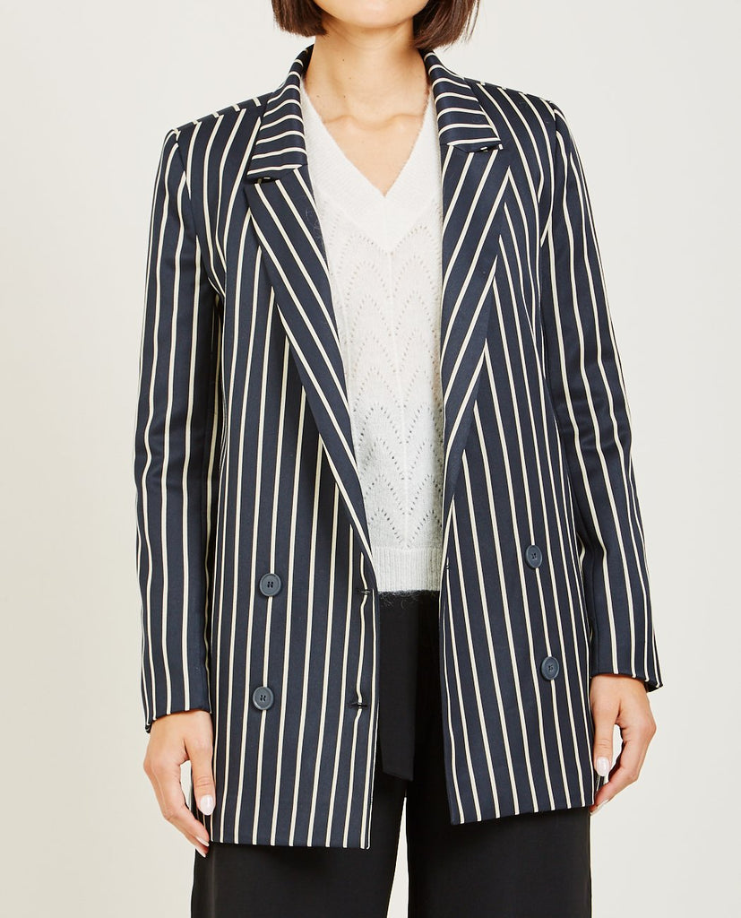 JUST FEMALE-LAURENT STRIPED BLAZER-Women Coats + Jackets-{option1]