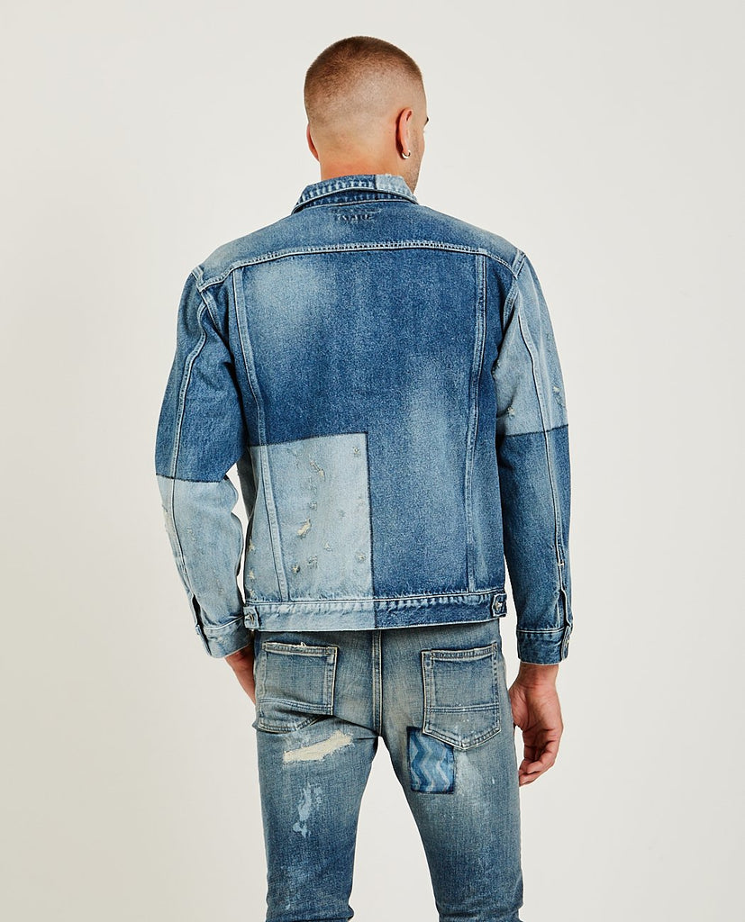 FDMTL-Lazer Denim Jacket-Men Coats + Jackets-{option1]