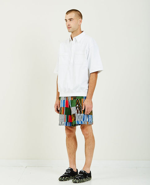 LUDA KHANLARI LEAGUE SHORT SLEEVE HENLEY WHITE