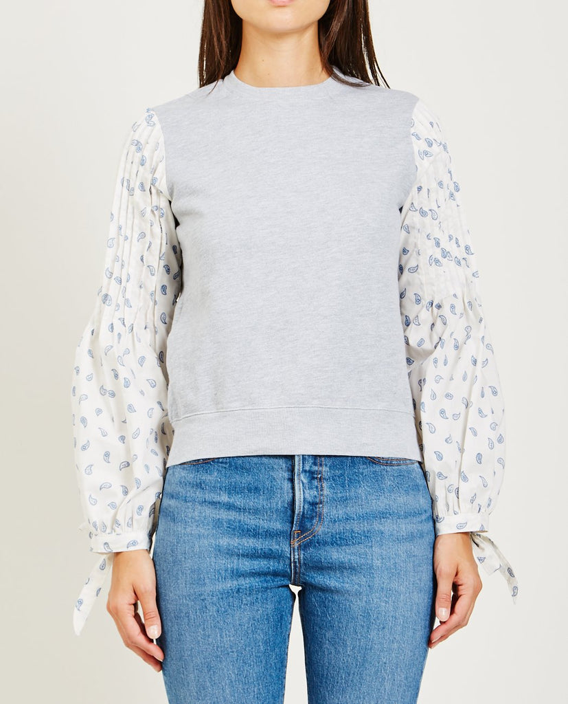 ALSO-LENA SLEEVE TIE SWEATSHIRT-Women Sweaters + Sweatshirts-{option1]