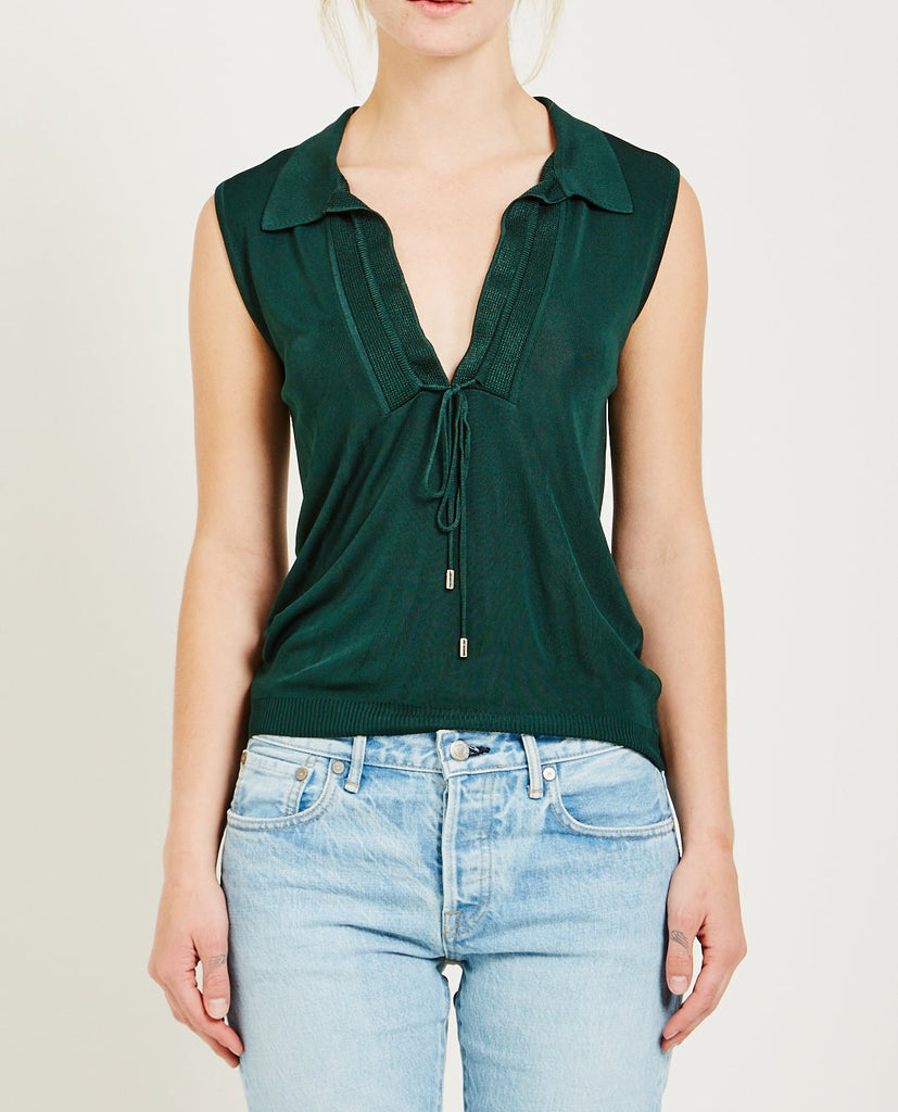 CARVEN-LIGHT RAYON VISCOSE TOP-Blouses-{option1]