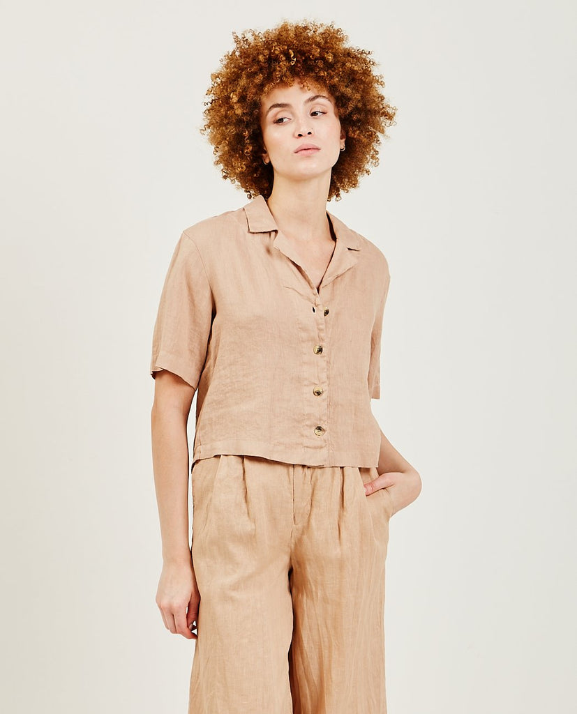 Linen Button Up-STATESIDE-American Rag Cie