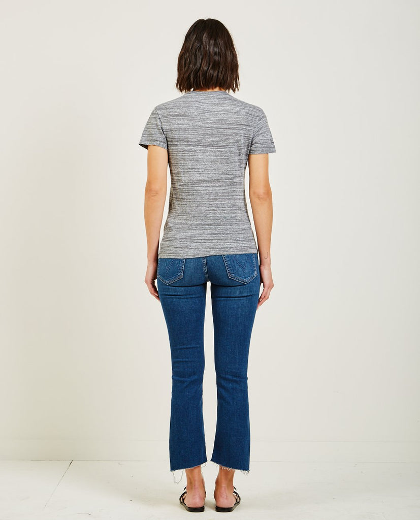 LINEN JERSEY BABY TEE HEATHER GREY-STATESIDE-American Rag Cie