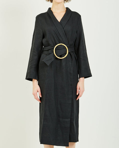 SLEEPER LINEN LOUNGE ROBE