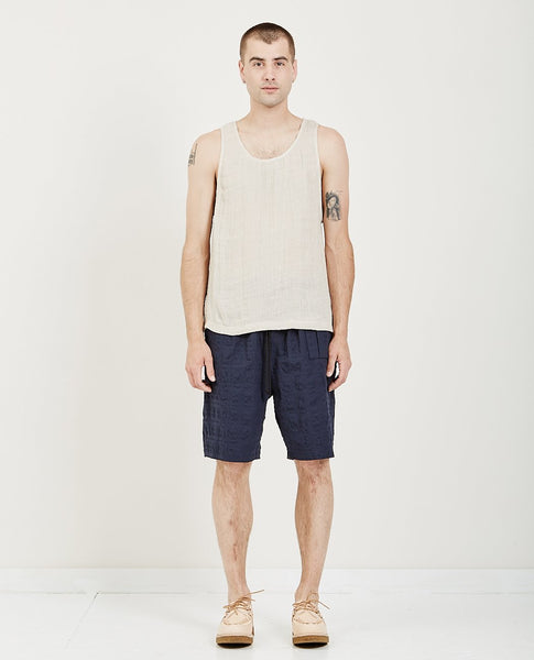 S.K. MANOR HILL LINEN TANK TOP