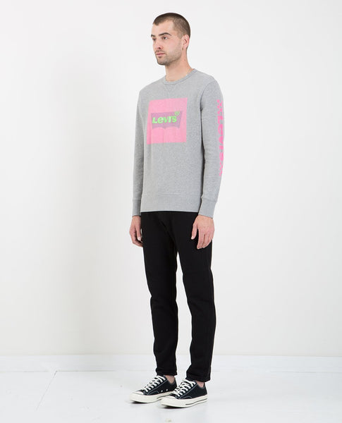 LEVI'S LOGO CREWNECK SWEATSHIRT HEATHER