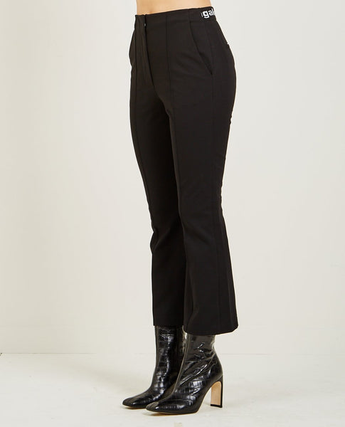 T BY ALEXANDER WANG LOGO STRETCH SUITING PANT