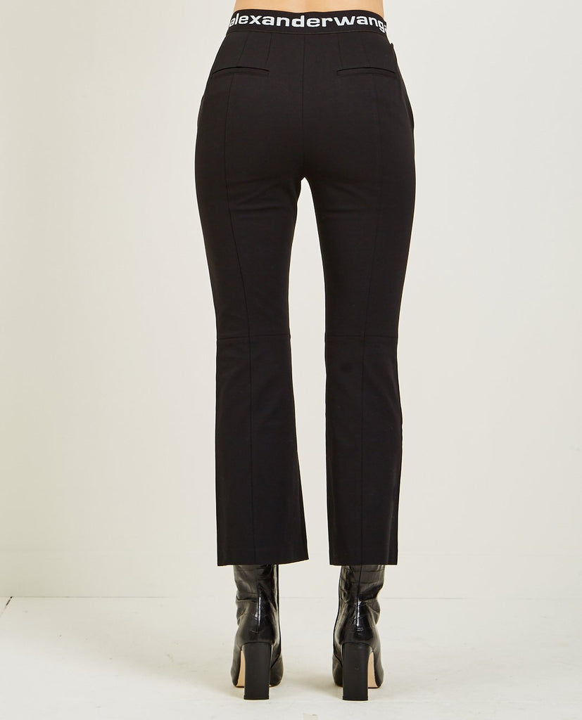 T BY ALEXANDER WANG-LOGO STRETCH SUITING PANT-Women Pants-{option1]