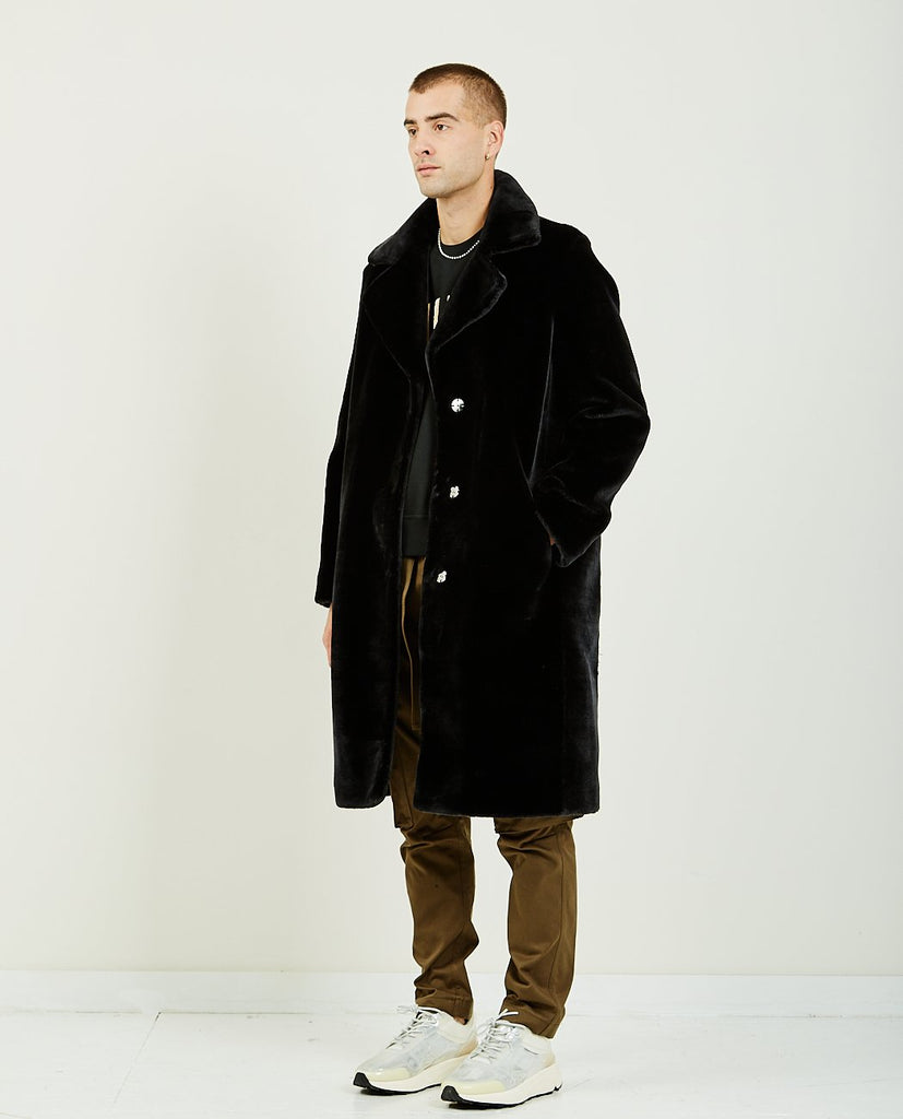 IH NOM UH NIT-LONG COAT ECO FUR-Men Coats + Jackets-{option1]