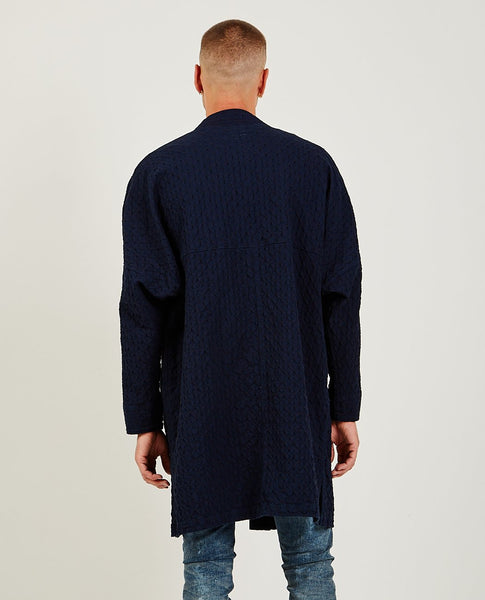 FDMTL Long Haori Coat Dot Indigo