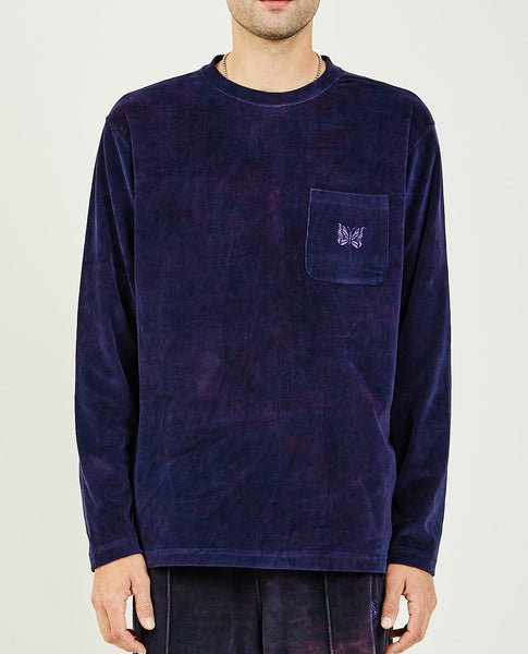 NEEDLES LONG SLEEVE CREW NECK TEE